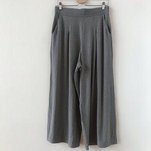Uniqlo gray wide leg ankle length pants